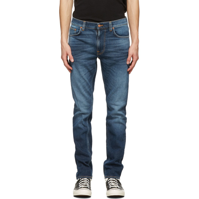 Nudie Jeans 蓝色 Lean Dean 牛仔裤