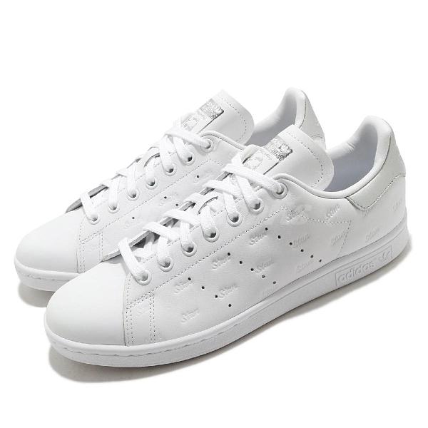 adidas 休閒鞋 Stan Smith W 白 銀 小白鞋 女鞋 皮革 運動鞋【ACS】 EF6854