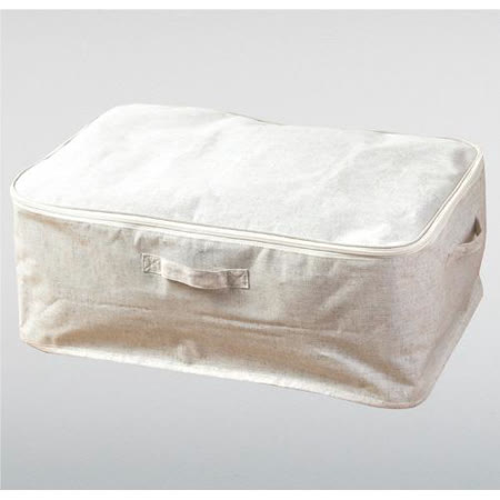 森 棉麻全開式衣物箱S3090-3(20x59x39cm)