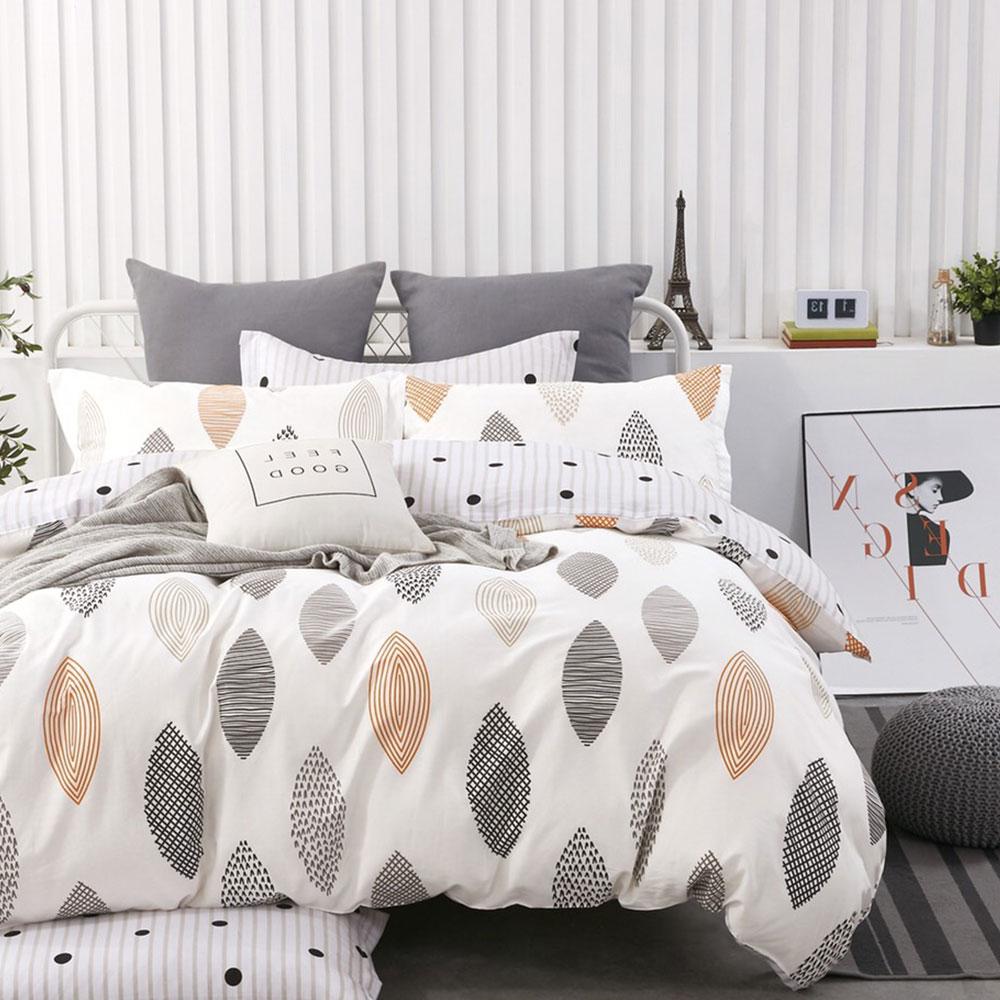 床包被套組(薄被套)-單人 / 精梳純棉三件式 / 漫步里加 台灣製