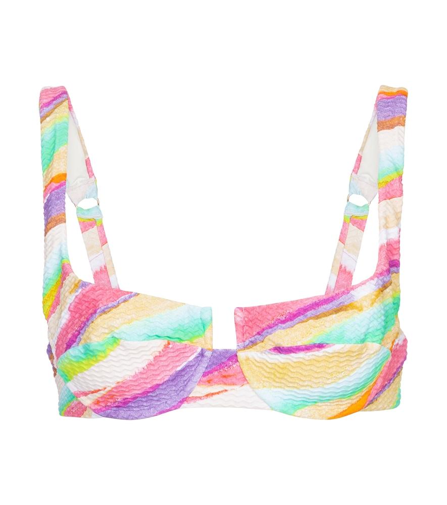 Brigitte printed bikini top