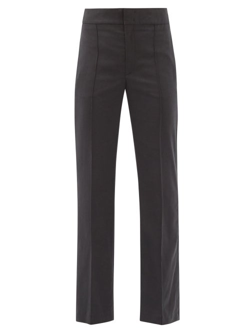 Isabel Marant - Sorokia High-rise Crepe Trousers - Womens - Black