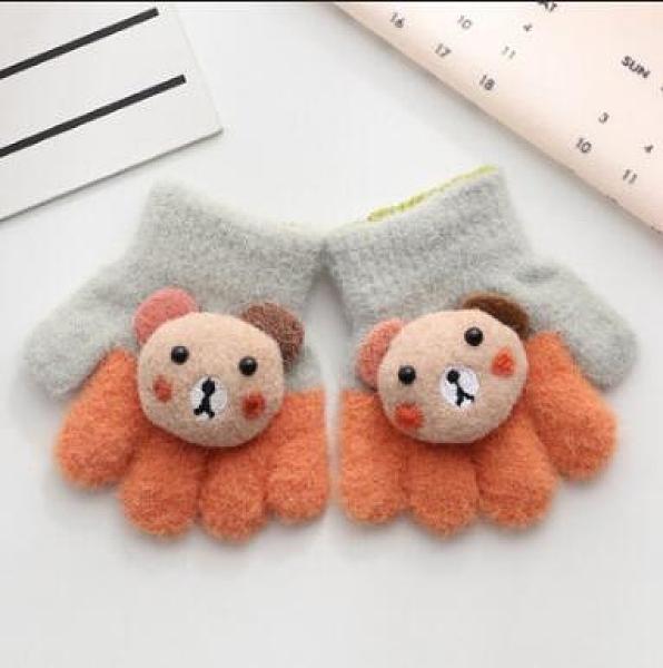 兒童手套 春季幼兒1-3歲0-2男女童小孩可愛寶寶五指冬保暖小童【快速出貨八折搶購】