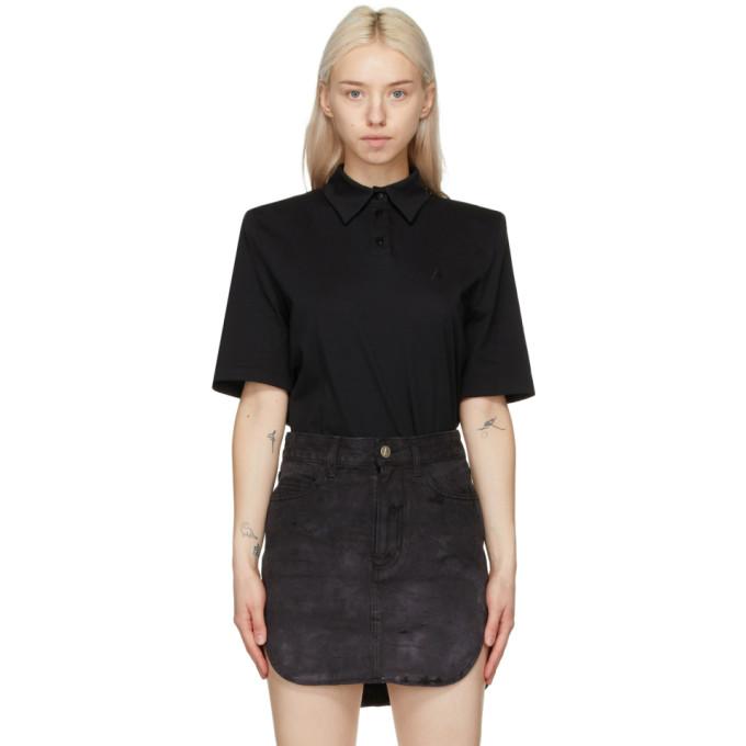 The Attico 黑色 Astrid Polo 衫