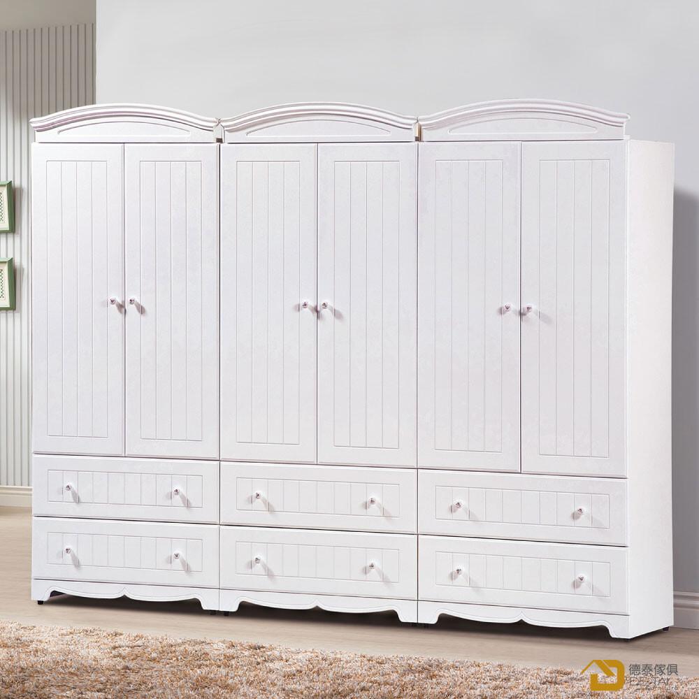 d&t 德泰傢俱 martha白色8x7尺衣櫃 a023-b141-01