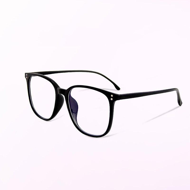 時空的午夜明輝│經典百搭款森林黑TR90輕量方框UV400濾藍光眼鏡