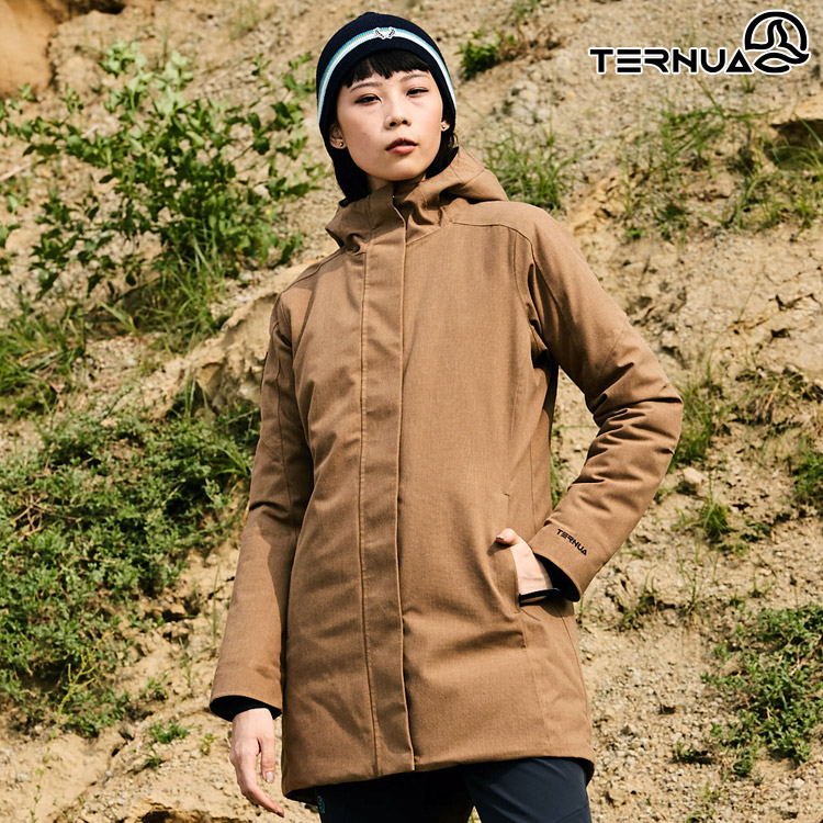 TERNUA 女環保紗防水透氣連帽保暖外套1643071 /城市綠洲(登山、旅遊、都市穿搭)
