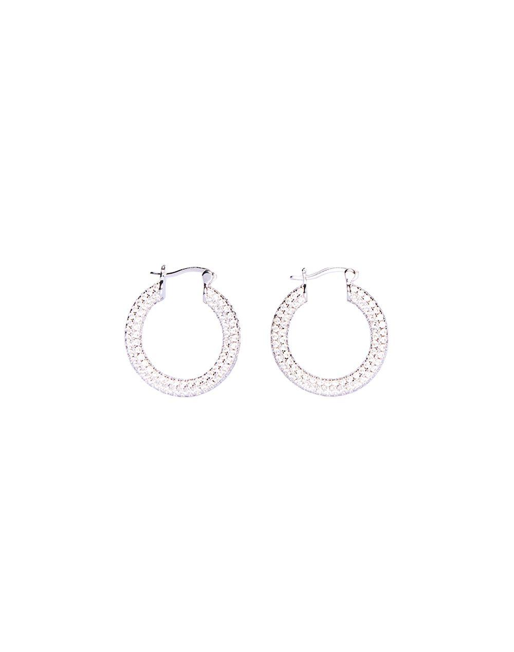 Crystal Hoop Earrings-YUYU
