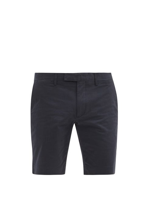 Polo Ralph Lauren - Slim-leg Cotton-blend Chino Shorts - Mens - Navy