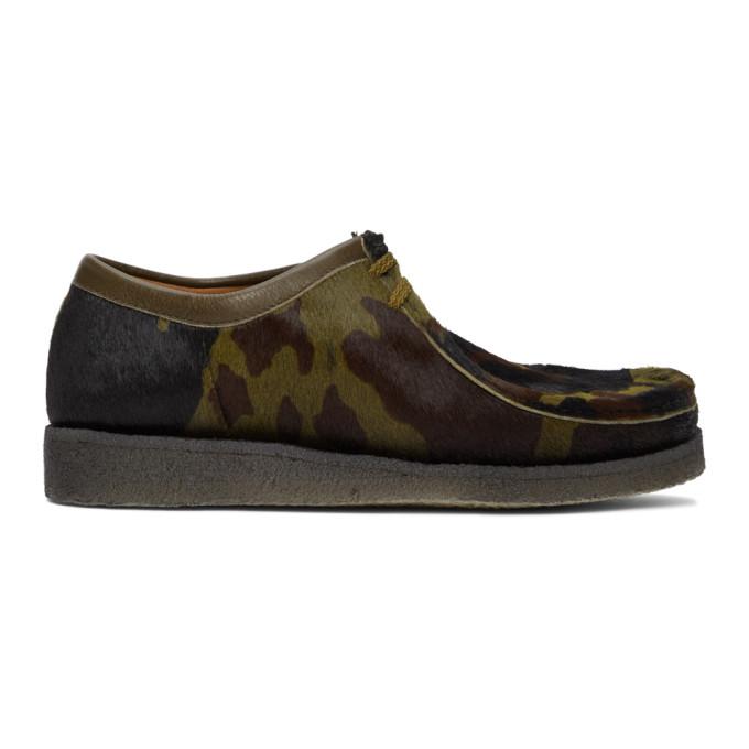 Padmore and Barnes SSENSE 独家发售黑色 Original P204 迷彩莫卡辛鞋
