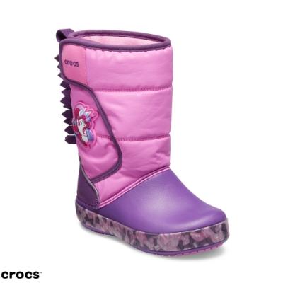 Crocs 卡駱馳 (童鞋) 獨角獸酷閃童靴 205303-6U9