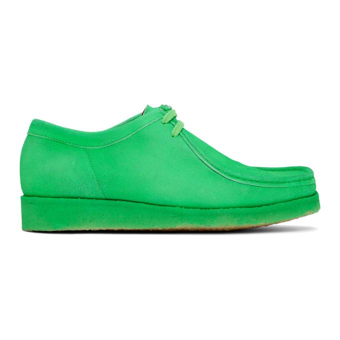 Padmore and Barnes SSENSE 独家发售绿色 Original P204 绒面革莫卡辛鞋