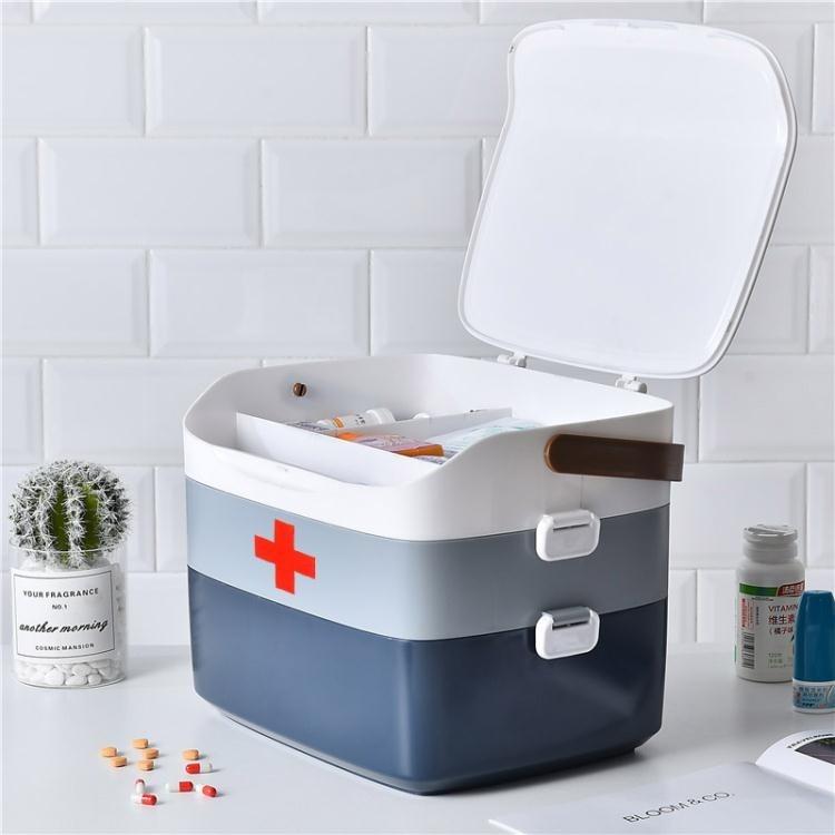 【新品現貨上架85折優惠】藥箱家用特大號多層大容量急救家庭藥品寶寶收納盒醫藥收納箱