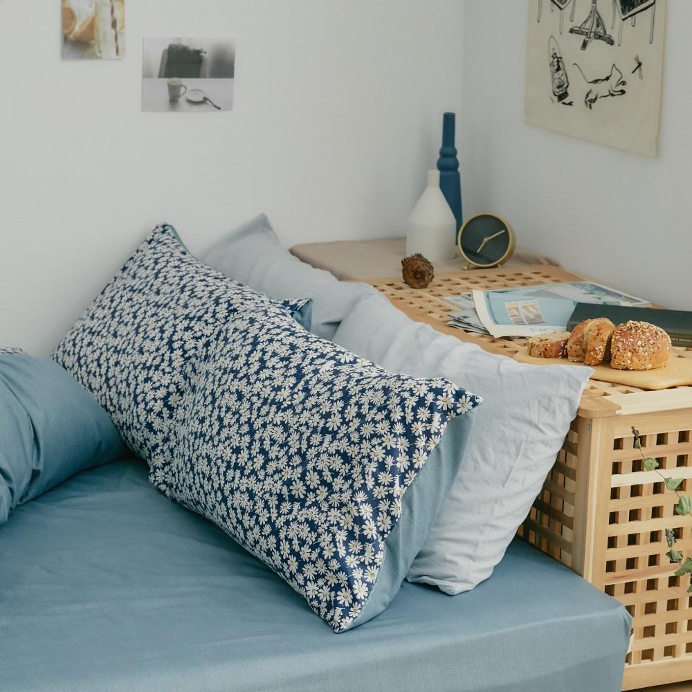 床包被套組(薄被套)-雙人 / 100% 精梳純棉 / 黛西