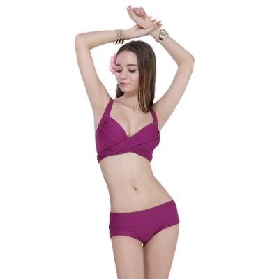 [奧可那泳裝]紫色性感兩件式比基尼