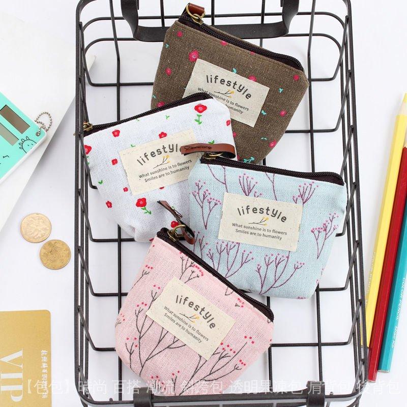 小零錢包迷你男女可愛帆布藝學生韓版硬幣包包長短款錢包鑰匙卡包