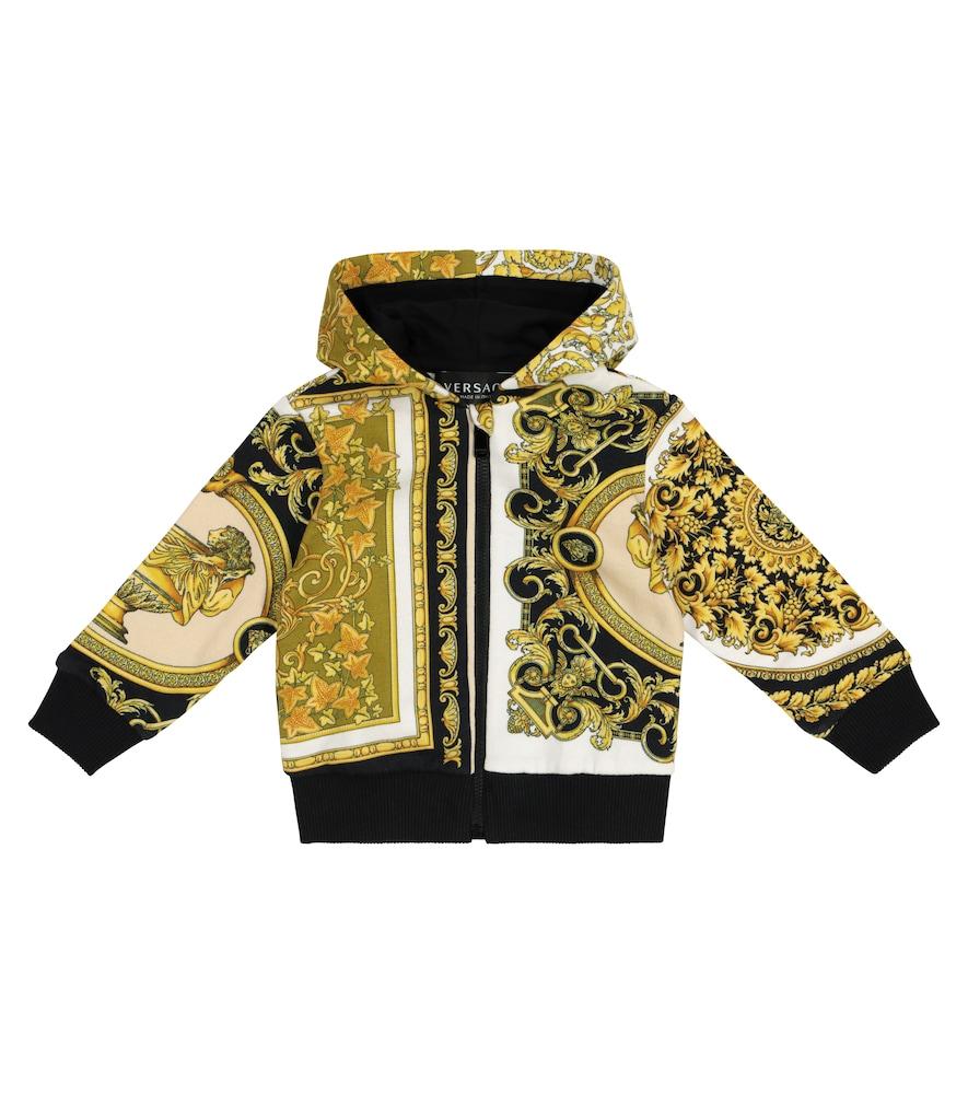 Baby Barocco Mosaic cotton hoodie