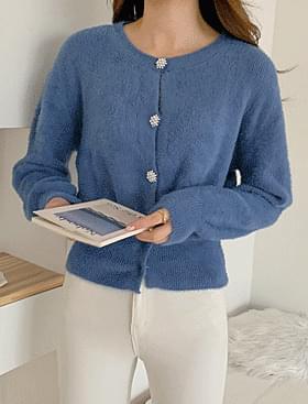 韓國空運 - ★Plan ★Sevilla Cubic Pearl CD♥Luxury Button Point:D 開襟衫