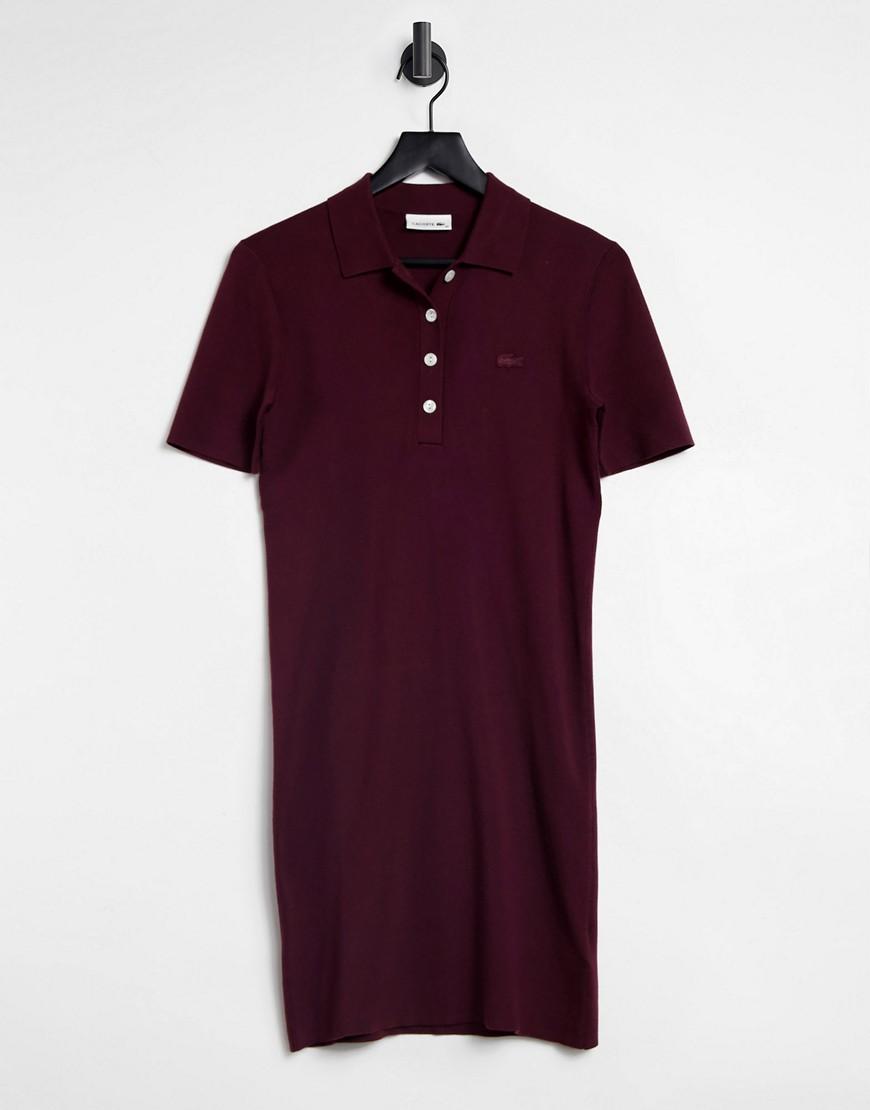Lacoste classic polo mini dress in purple