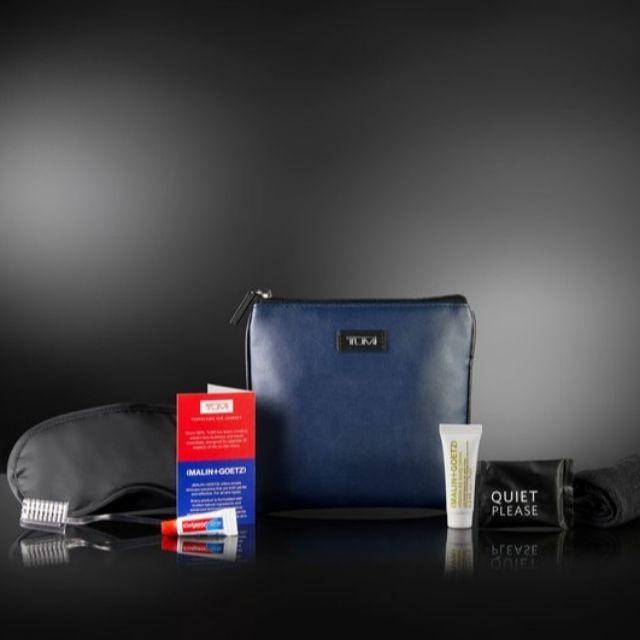 含內容物 軟皮&防水 tumi &達美航空  過夜包 盥洗包 旅行收納包 3c整理包  tbh22