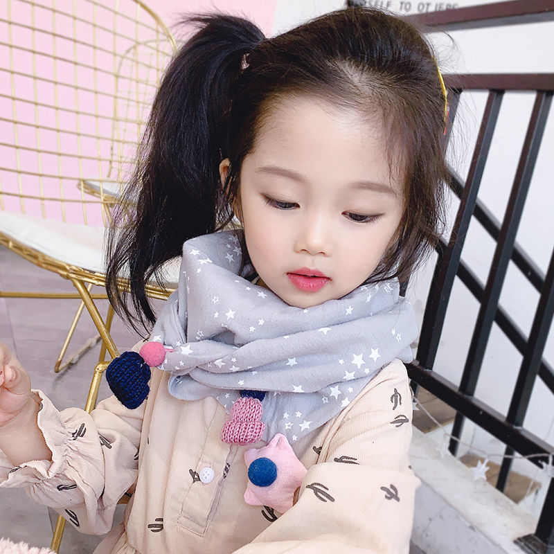 【關註有禮-快速出貨】兒童三角巾圍巾加厚韓版秋冬寶寶男童女童棉圍脖冬季韓國小孩女孩