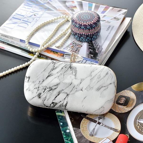 年底促銷 新款中國古風日常漢服配飾大理石紋圓形手鉆環PU斜挎單肩手提包包
