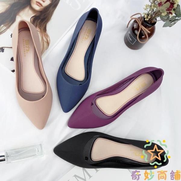 雨靴防水防滑短筒淺口膠鞋尖頭雨鞋女時尚水鞋【奇妙商鋪】