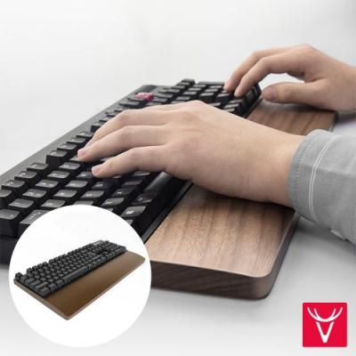 Vaydeer鹿為 優雅復古胡桃木止滑鍵盤手腕托 大號/44cm