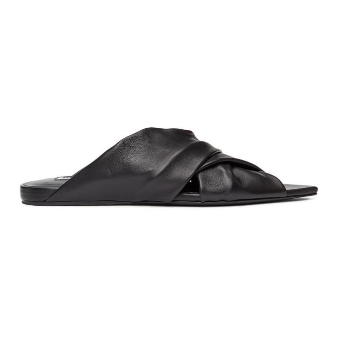 Jil Sander 黑色 Wrapped 拖鞋