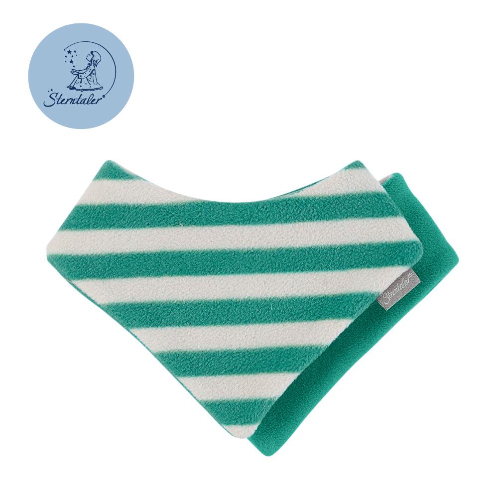 STERNTALER 粗條紋雙面三角領巾-綠  B-4101508-22