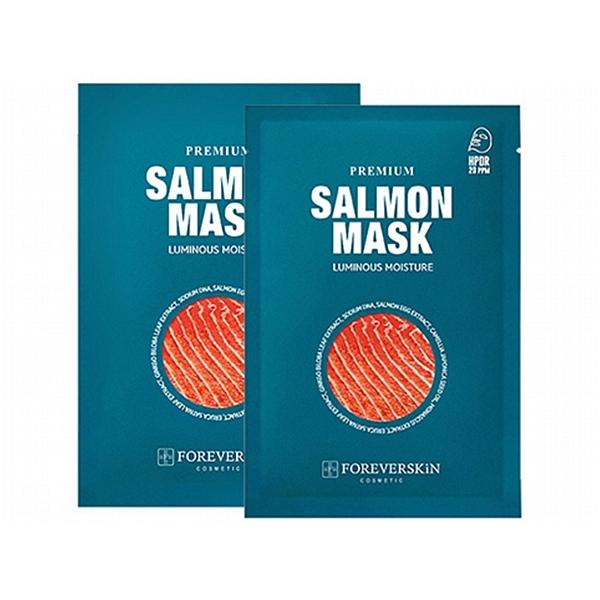 韓國 Foreverskin 鮭魚水光保濕面膜(10片入)盒裝【小三美日】