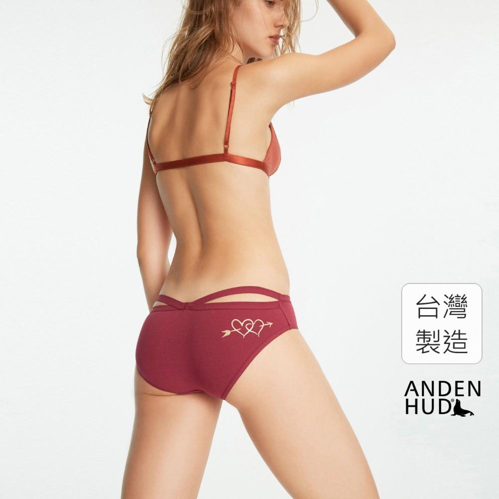 【Anden Hud】澹月梨花.交叉美臀低腰三角內褲(嫣紅-一見鍾情) 台灣製