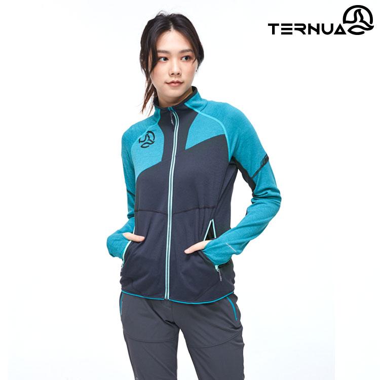 TERNUA 女 Warmshell立領外套 1643355 AF / 城市綠洲(輕量透氣、彈性、防曬、快乾)