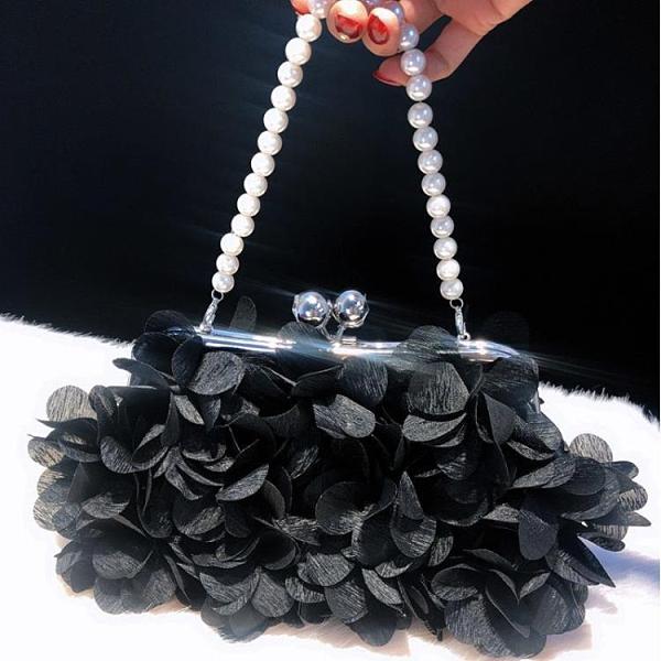年底促銷 甜美潮流斜挎包花瓣晚宴包手拿包宴會包立體花朵新娘包公主包