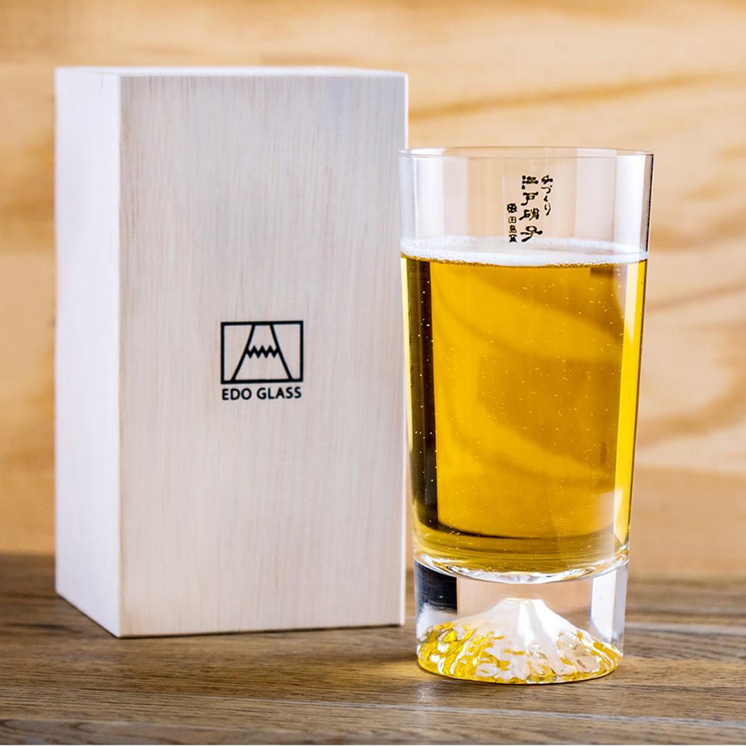 【公司貨】現貨 田島硝子 富士山杯 經典款 高杯啤酒杯 隨飲料變色 酒杯 玻璃杯 最佳禮物 伴手禮推薦 TG15-015-T 熱賣中!