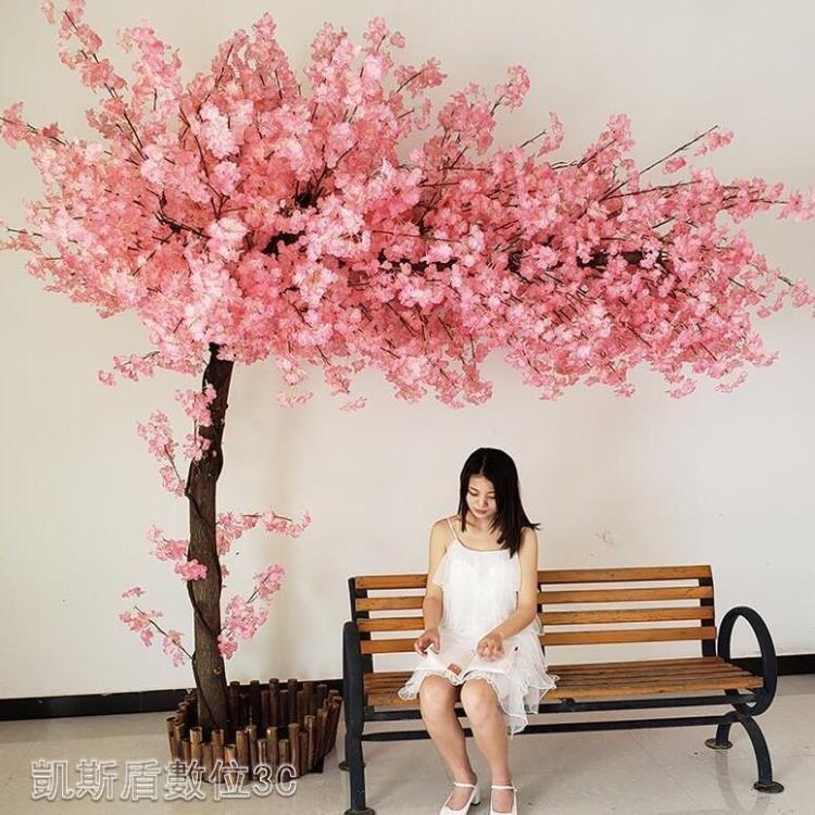 仿真櫻花樹桃花樹大型假樹室內外裝飾許愿樹商場酒店婚慶擺設造景