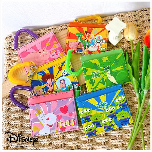 天藍小舖-迪士尼系列玩具總動員款伸縮QQ繩證件套/票卡夾-共6色-$150【A09090378】