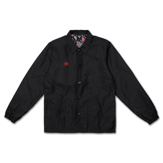 美國加州Vast圖騰花紋教練夾克 - 黑色