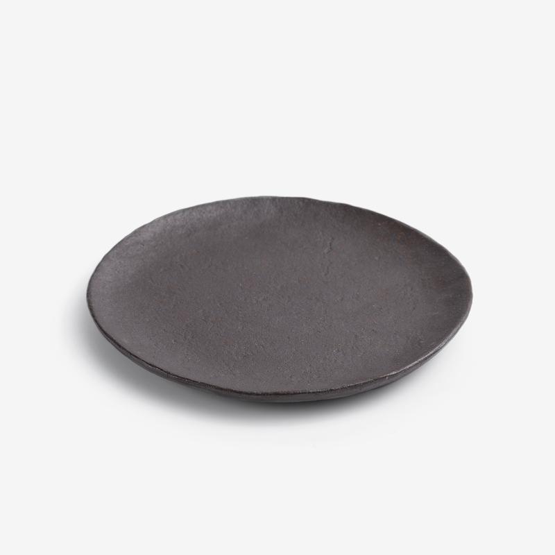 職人 素釉窯燒 18cm 陶瓷圓盤|暖棕|單品