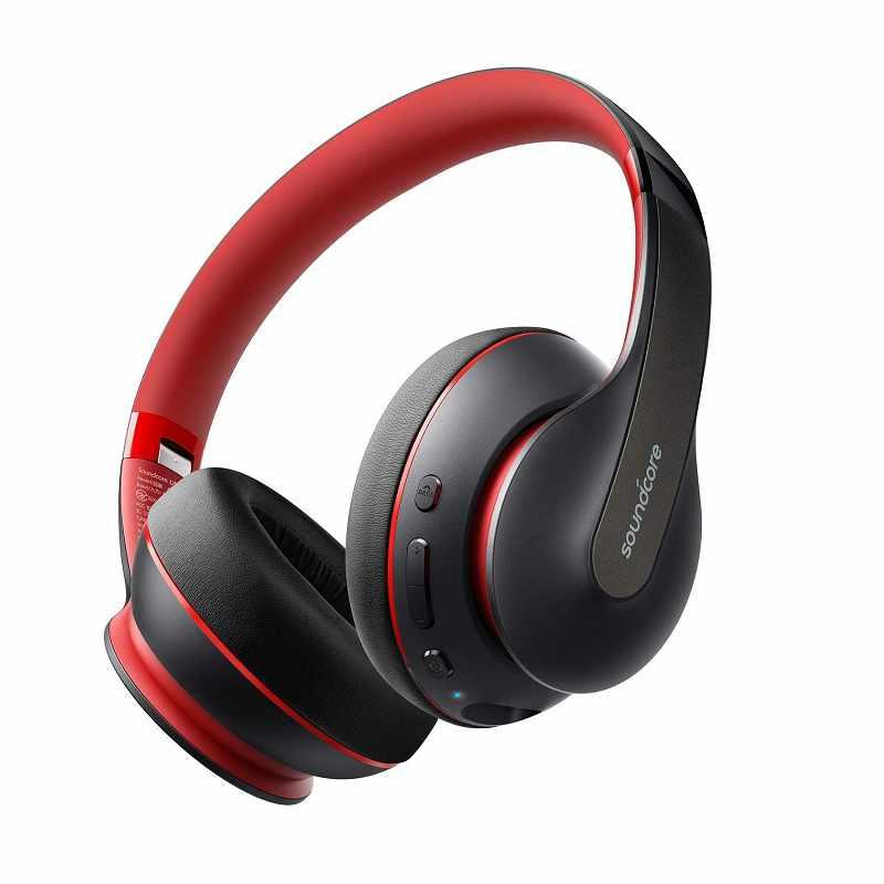 Anker Soundcore Life Q10 耳罩式耳機 A3032012 可折疊 60小時播放 Hi-Res認證 紅色 [2美國直購]