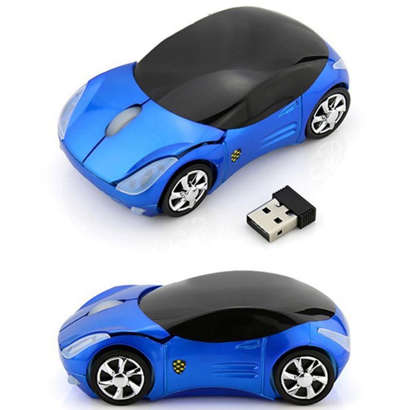 無線滑鼠 【送電池滑鼠墊】法拉利汽車無線滑鼠臺式筆記本電腦通用辦公游戲