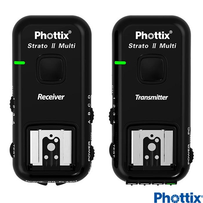 Phottix Strato II 2.4GHz無線閃燈觸發器含接收器Canon-15651