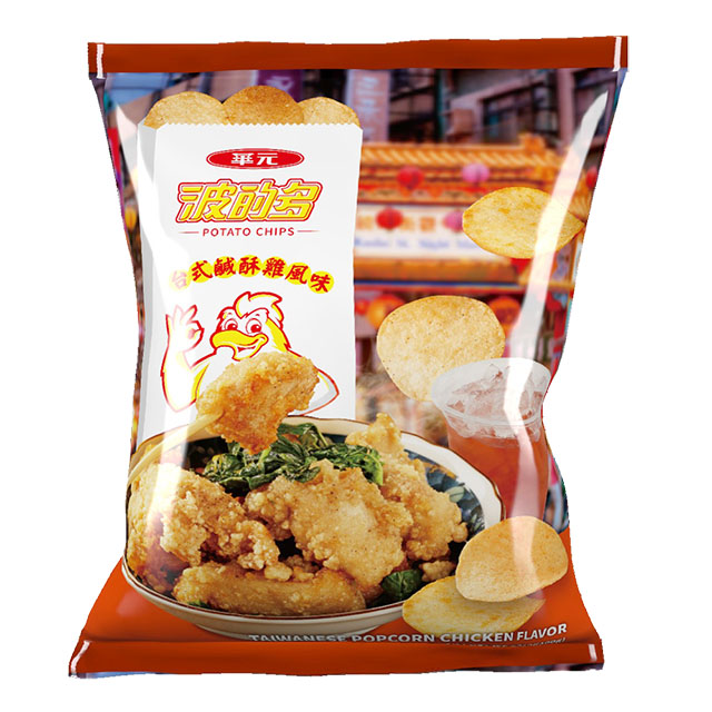 華元 波的多洋芋片100g-台式鹹酥雞風味