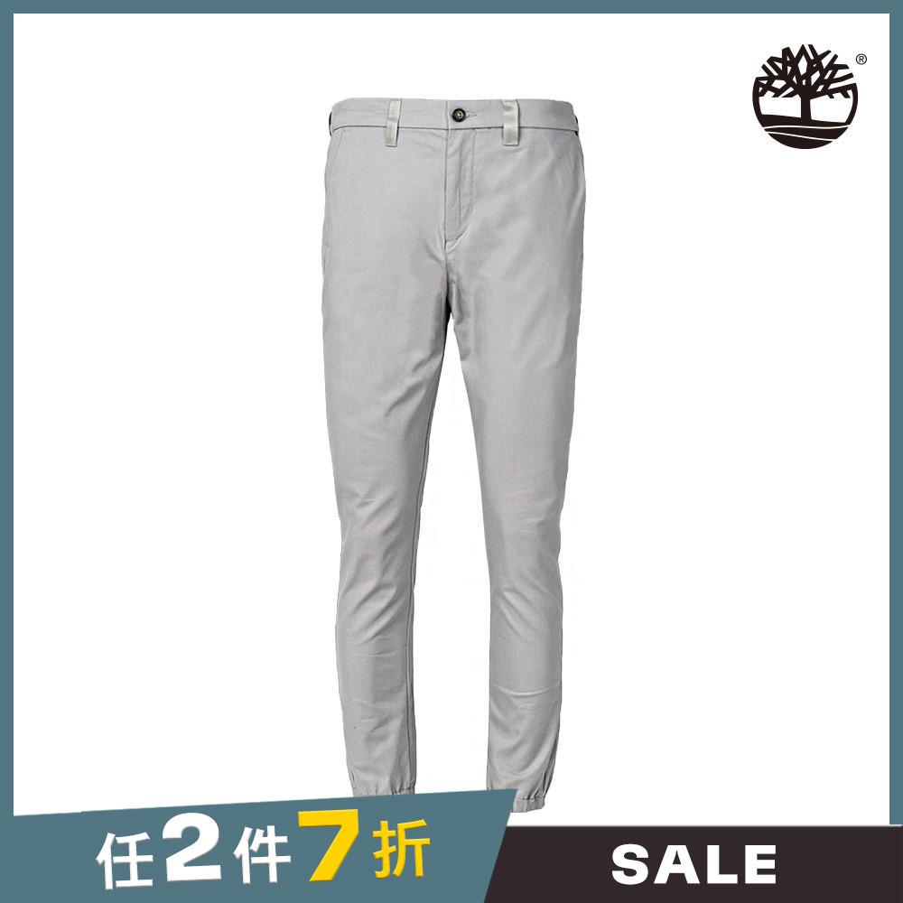 Timberland 男款合金灰棉質窄版修身卡其褲|A2CAC031