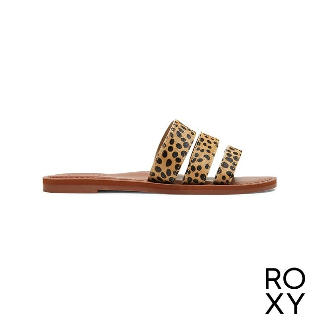 【ROXY】WYLD ROSE II 拖鞋 咖啡色