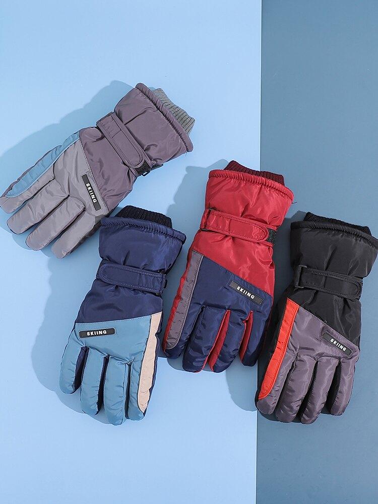 滑雪手套冬天男加絨厚保暖單板防風防水防滑五指戶外運動騎行登山