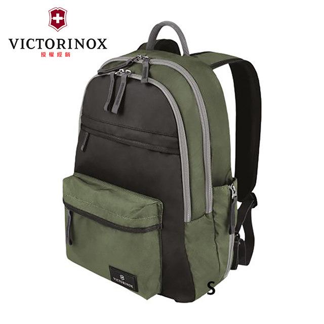 【VICTORINOX 瑞士維氏】標準型後背包/黑綠(601415)