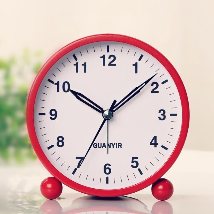 鬧鐘  韓版學生靜音鬧鐘兒童臥室床頭時尚創意夜光金屬小鬧鐘