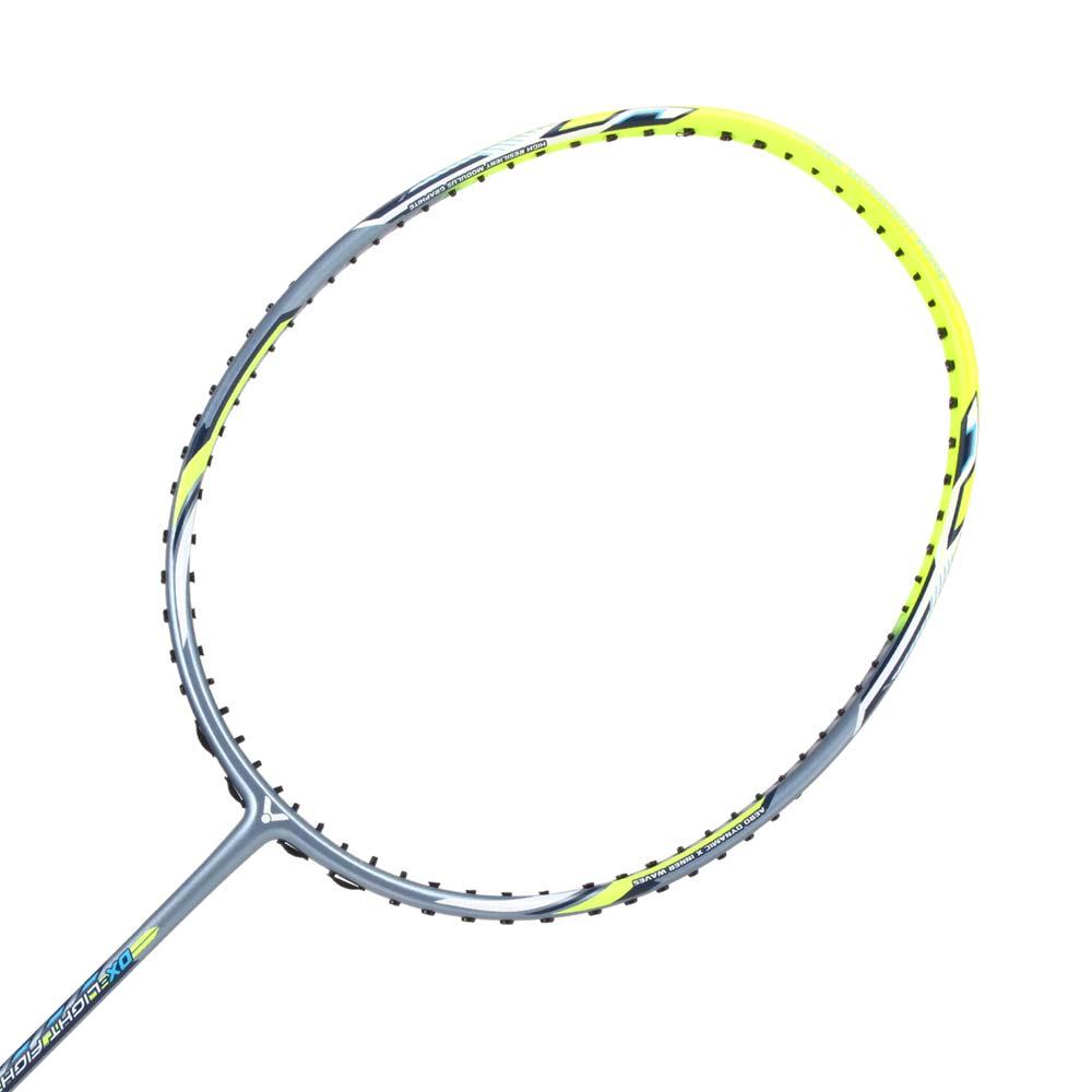 VICTOR 全面球拍-6U-羽毛球拍 空拍 勝利 螢光黃灰 F