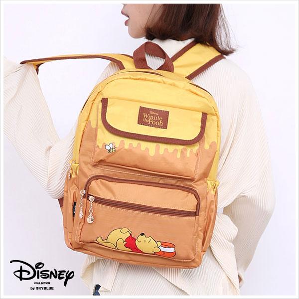 天藍小舖-迪士尼系列甜甜蜂蜜罐小熊維尼款多口袋後背包-單1款-$490【A12121985】